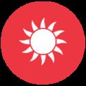 Solarium Icon Rot ICON