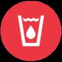 Wasser Icon rot